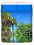 Tropical Exotic Jungle And Water Duvet Cover