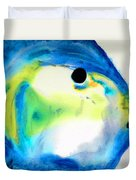 Tropical Fish 3 - Abstract Art By Sharon Cummings Duvet Cover