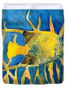 Tropical Fish Art Print Duvet Cover