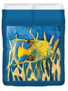 Tropical Fish Art Print Duvet Cover