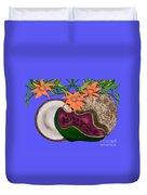 Tropical Fruit Duvet Cover by Christine Fournier