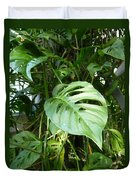 Tropical Green Foliage Duvet Cover
