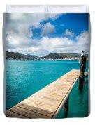 Tropical Harbor Duvet Cover