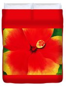 Tropical Hibiscus Painting Duvet Cover