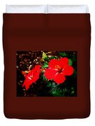 Tropical Hibiscus - Starry Wind 01a Duvet Cover
