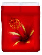 Tropical Hibiscus - Starry Wind 03a Duvet Cover