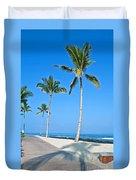 Tropical Island Beach And Sidewalk Art Prints Duvet Cover