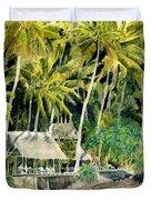 Tropical Island  Duvet Cover