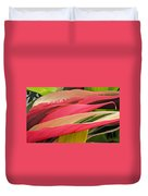 Tropical Leaves Abstract 3 Duvet Cover