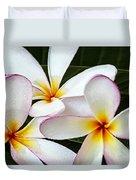 Tropical Maui Plumeria Duvet Cover