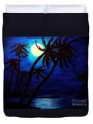 Tropical Moon On The Islands Duvet Cover