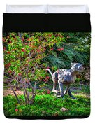 Tropical Mountain Lion Duvet Cover