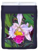Tropical Orchid Duvet Cover