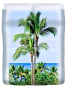 Tropical Palm Trees In Hawaii Duvet Cover