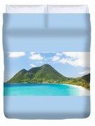 Tropical Panorama In The Caribbean Duvet Cover
