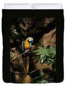Tropical Parrot Duvet Cover
