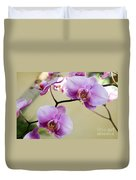 Tropical Radiant Orchid Flowers Duvet Cover