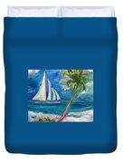 Tropical Sails Duvet Cover