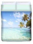 Tropical Sea In The Maldives - Indian Ocean Duvet Cover