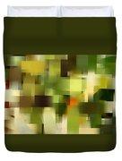 Tropical Shades - Green Abstract Art Duvet Cover