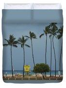 Tropical Storm Flossie Kapukaulua Beach Paia Maui Hawaii 2013 Duvet Cover