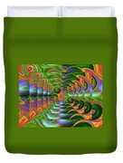 Tropical Swirls Layered Duvet Cover