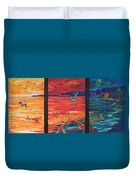 Tropical Trance Triptych Duvet Cover