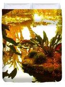 Tropical Water Garden Duvet Cover