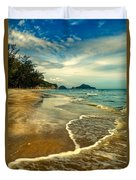 Tropical Waves Duvet Cover
