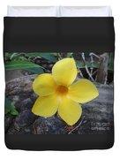 Tropical Yellow Flower Duvet Cover