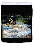 Trout Fishing Duvet Cover