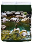 Trout Fly Fishing Duvet Cover