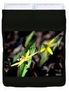 Trout Lilies Duvet Cover