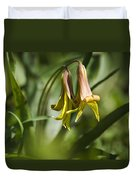 Trout Lily Flowers Duvet Cover