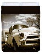 Truck And Trailer Duvet Cover
