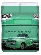 Truck In Tailgate-hdr Duvet Cover