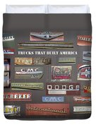 Trucks That Built America Duvet Cover