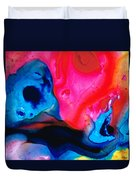 True Colors - Vibrant Pink And Blue Painting Art Duvet Cover