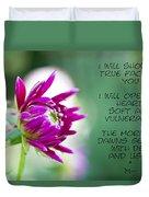 True Face - Poem - Flower Duvet Cover