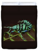 True Weevil Couple Mating Papua New Duvet Cover