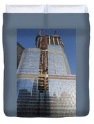 Trump International Hotel Under Construction Chicago Duvet Cover
