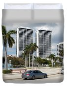 Trump Plaza In Downtown West Palm Beach Skyline Duvet Cover