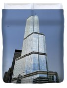 Trump Tower Facade 3 Letter Signage Duvet Cover