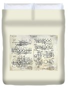 Trumpet Patent Drawing Duvet Cover
