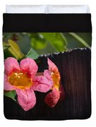 Trumpet Vine With Friend Duvet Cover