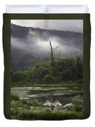 Trumpeter Swans At Sunrise Duvet Cover