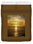 Trust In The Lord  Duvet Cover by Barbara Snyder