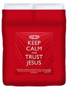 Trust Jesus 01 Duvet Cover by Rick Piper Photography