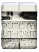 Truth For Authority Lucretia Mott  Duvet Cover