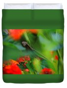 Trying To Hide Praying Mantis Duvet Cover by Raymond Salani III
